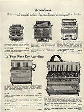 1937 PAPER AD La Tosca Piano Key Accordions Eagle Brand
