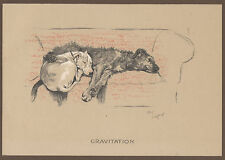 CECIL ALDIN DOG PRINT CRACKER BULL TERRIER MICKY IRISH WOLFHOUND HUNTING FARM 15