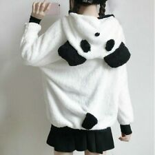 Women Fleece Hoodie Jacket Coat Cardigan Winter Warm Casual Fluffy Furry Panda