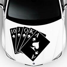 Car Hood Decals Auto Playing Cards Queen Of Spades Art Vinyl Sticker Decor DA44