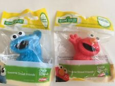 """Sesame Street Friends Elmo And Cookie Monster 3"""" Mini Figures New"""
