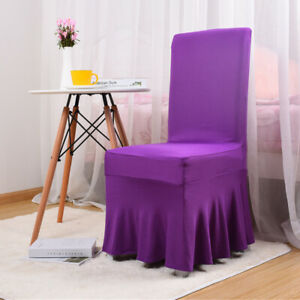 Universal Chair Covers Stretch Seat Cover For Dining Room Wedding Party Banquet