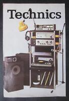 TECHNICS catalogo brochure Hi-Fi amplificatori registratori giradischi diffusori