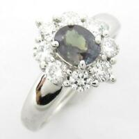 Authentic JEWELRY Alexandrite diamond ring PT900 Platinum Used JP size #12