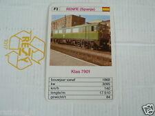 24 EK LOKS F2 RENFE SPAIN KLAS 7901 TRAIN TREIN KWARTET KAART,