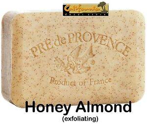 Pre de Provence HONEY ALMOND 250 Gram French Soap Bath Shower Bar Shea Butter