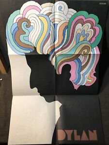 BOB DYLAN GREATEST HITS ORIG MILTON GLASER POSTER (1967) GOOD CONDITION