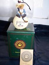 Nos Boyds Bear Nancy Driven To Win Golf Ornament Figurine Bearstone