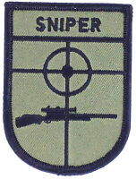 SNIPER PATCH AIRSOFT ARMY PATCH IRON ON MILITARY