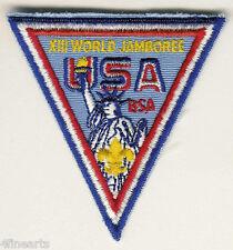 BOY SCOUTS Patch - XIII (13th) World Jamboree USA -Statue of Liberty, Triangular