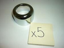 (5) ESCUTCHEON CHROME STEEL DECK PLATE 1-1/2 IPS PFE37