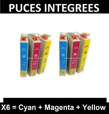 6 cartouche-Prodess compatible epson non-oem T1282 1283 1284 Cyan Yellow Magenta