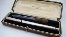 More details for antique mabie todd & bard, the swan pen, sterling, full flex, 14k m nib, usa, jm