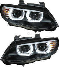 Scheinwerfer Set 3D U LED Angel Eyes für BMW 3er E92 E93 Bj. 05-10 Coupe Cabrio