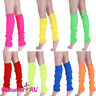 Ladies Party Legwarmers Knitted Neon Dance 80s Costume 1980s Womens Leg Warmers
