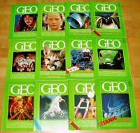 GEO Zeitschrift 1986 komplett Bild der Erde Jahrgang 12 Hefte Sammlung Natur