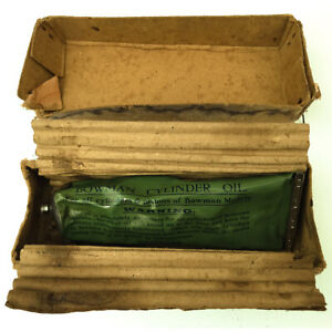 A SCARCE FULL TUBE OF VINTAGE BOWMAN CYLINDER OIL FOR LIVE STEAM ENGINES BOXED