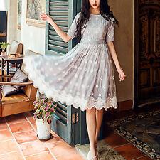 Création! Robe de soirée charme doublée broderie anglaise T.38  LYQ0460
