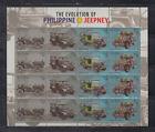 Philippine Stamps 2017 Evolution of the Jeepney, set sheetlet ,MNH