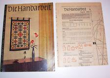 DDR Magazine Die Handmade 2/1963 With Schnittmusterbogen
