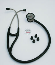 BLACK Cardiology Stethoscope - Class III CE Marked and FDA Approved