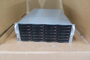 "Supermicro SuperChassis CSE-846 24 x 3.5"" Bay SAS SATA Storage Server2 x E5-2620"