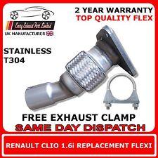 RENAULT Clio 1.6 i 2001-2004 facile DIY Flex flexi remplacement pour Cat Tuyau d'échappement