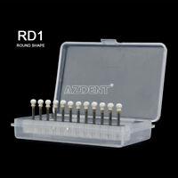 UK Round Mounted White Stone Dental Polishing Burs - FG 12PC/PK Abrasion CW1514
