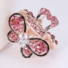 Mini Butterfly Crystal Hair Claw Clip Women Hair Clips Vintage Rhinestone Crown