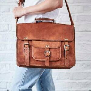 Bag Leather Men Shoulder Messenger Business S Laptop Briefcase Crossbody New