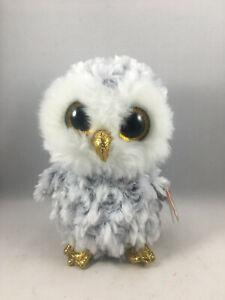 "TY Beanie Boos 6"" OWLETTE the Owl Plush Stuffed Animal Toy MWMTs Ty Heart Tags"