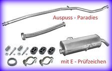Abgasanlage Auspuffanlage Peugeot 206 1.4 Typ 2A/C bis 11/2003 Schrägheck + Kit