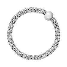 "Silpada 'chic' Sterling Silver Stretch Bracelet 7 1"" Extender"