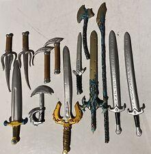 1:12 1/12 swords ax axes weapons lot marvel legends mezco mythic legions