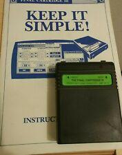 Final Cartridge III + Anleitung  (Modul 1990) C64 Commodore 64 Modul