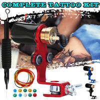 Kit de tatouage complet Rotary Tattoo Machine Cartridge Grip Grommets Nipples Se