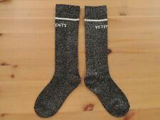 VETEMENTS Glittery Grey Inspired Edition Cotton-Blend Socks BRAND NEW