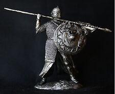 Medieval Crusader Knight Tin Toy soldier 54 mm., figurine, metal sculpture.