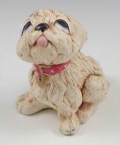 VTG  PENDELFIN ENGLAND TAMMY, WHITE PUPPY, DOG FIGURINE, WHIMSICAL