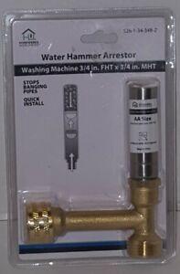 """3 NEW HOMEWERKS WORLDWIDE Water Hammer Arrestor Washing Machine 3/4"""" FHT MHT"""