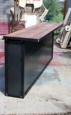 Comptoir bar sur mesure  meuble industriel bois et mètal décoration