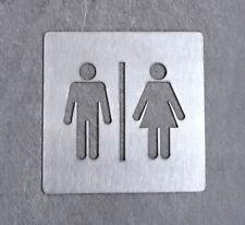 Targhetta bagno uomo|donna_10 x 10 cm_acciaio inox