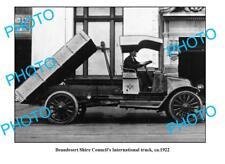 OLD LARGE PHOTO BEAUDESERT S/C 1922 INTERNATIONAL TRUCK