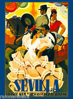 1946 Sevilla Seville Spain Europe European Vintage Travel Advertisement Poster