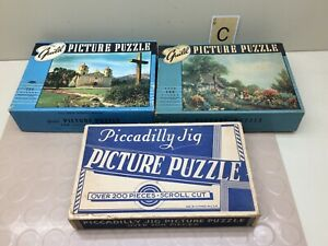 Vintage Jigsaw Puzzles Lot Guild, Picadilly Jig