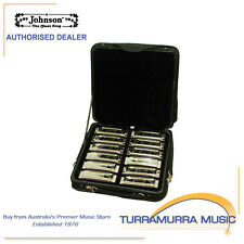 Johnson Blues King Full Set of Harmonicas (All 12 Keys) with Carry Case / Bag