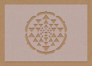 Sri Yantra Stencil Sacred Geometry Hindu Meditation Crafting A6 A5 A4 A3