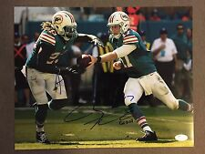 RYAN TANNEHILL & JAY AJAYI (Miami Dolphins) signed 11x14 Photo ~ JSA/COA