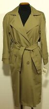 vintage NEW women's TOWNE by LONDON FOG trench coat overcoat raincoat - 4 PETITE