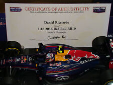 1:18 Daniel Ricciado Red Bull RB10 - Signed with COA LTD Edition of 100 - NEW